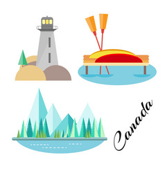 tourist attraction of canada vector image vector image