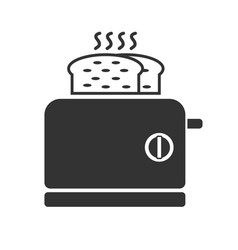 a gray toaster icon vector image