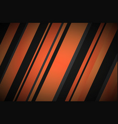 Abstract background with black and orange lines vector