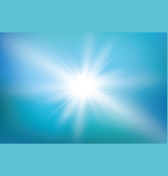 abstract bright shining sun with lens flare in a vector image