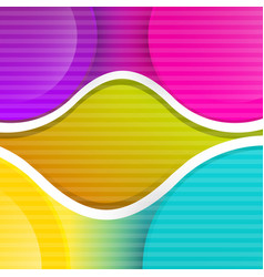 abstract colorful retro background with curves vector image