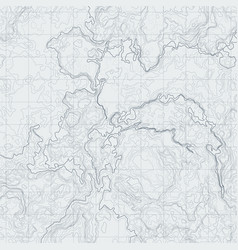 Abstract contour map with different relief vector