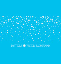 Abstract falling snow particles cyan background vector