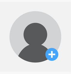 add person to a group chat icon design vector image