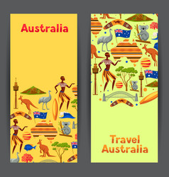 Australia banners design australian traditional vector