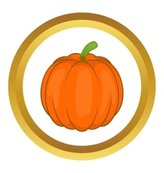 Autumn pumpkin vegetable icon vector image