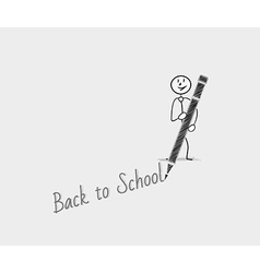 Back to school with one person vector