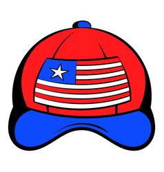 baseball in usa flag colors icon cartoon vector image