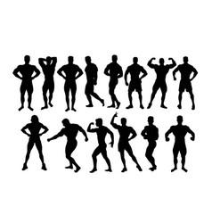 Bodybuilder silhouette vector