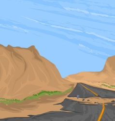 Broken road vector