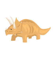 Brown styracosaurus dinosaur character jurassic vector