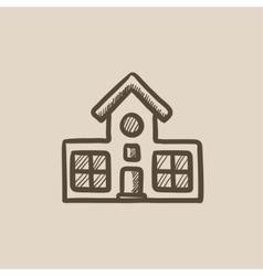 Building sketch icon vector image vector image