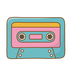 Cassette icon cartoon vector