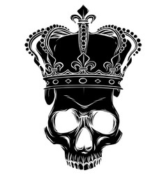 character - skull king and crossed royal vector image