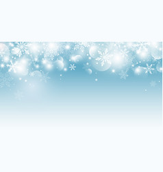 christmas background design snowflake and vector image