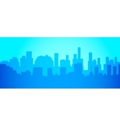 City skyline in minimalist style Silhouette vector