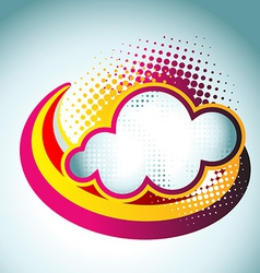 colorful cloud vector image