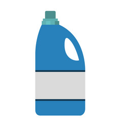 colorful silhouette of detergent bottle vector image
