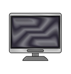 computer monitor with blank screen icon image vector image