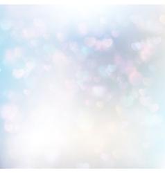 Defocused hearts bokeh background EPS 10 vector image