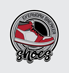 design shoes logo vector image
