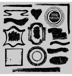 Distressed Stamps setGrunge badgeslabelsframe vector image