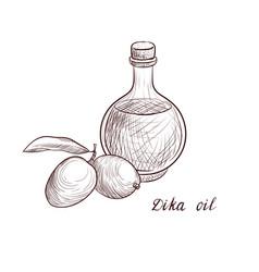 Drawing dika oil vector
