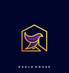 Eagle house template vector