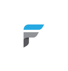 f letter faster logo template vector image