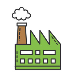 Factory plant building icon vector