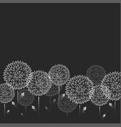 feminine pattern white dandelion flowers vector image