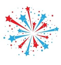 Firework on white vector image