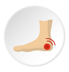 foot heel icon circle vector image