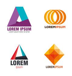 geometric company set emblems vector image
