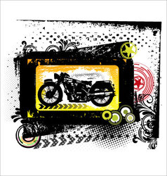 grunge motorcycle - background vector image