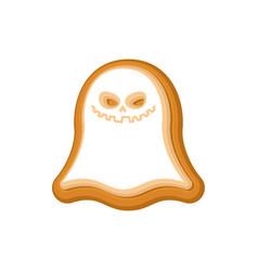 halloween cookie ghost cookies for terrible vector image