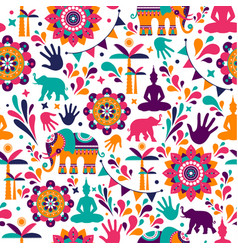 happy holi elements seamless pattern design vector image