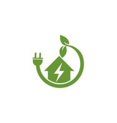 home green power electric logo vector image