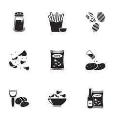 Icons for theme potato vector