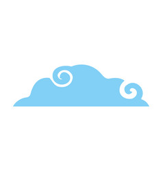 Isolated cloud design vector