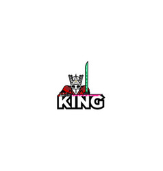 King esport logo design vector