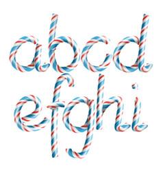 Letters a b c d e g g h i 3d vector