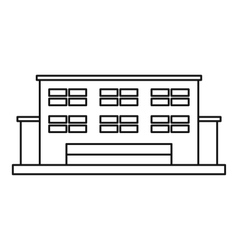 Manufacturing factory building icon outline style vector