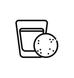 milk and cookie icon vector image