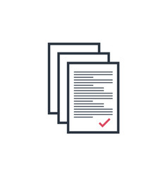 Multiple documents with check mark papers in vector