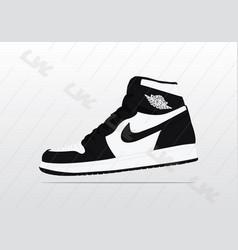 Nike air jordan 1 panda vector