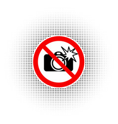 no photography with flash sign vector image