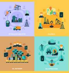 Oil infrastructure design concept vector