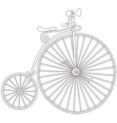 Old vintage bicycle vector