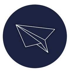 Paper airplane isolated icon vector